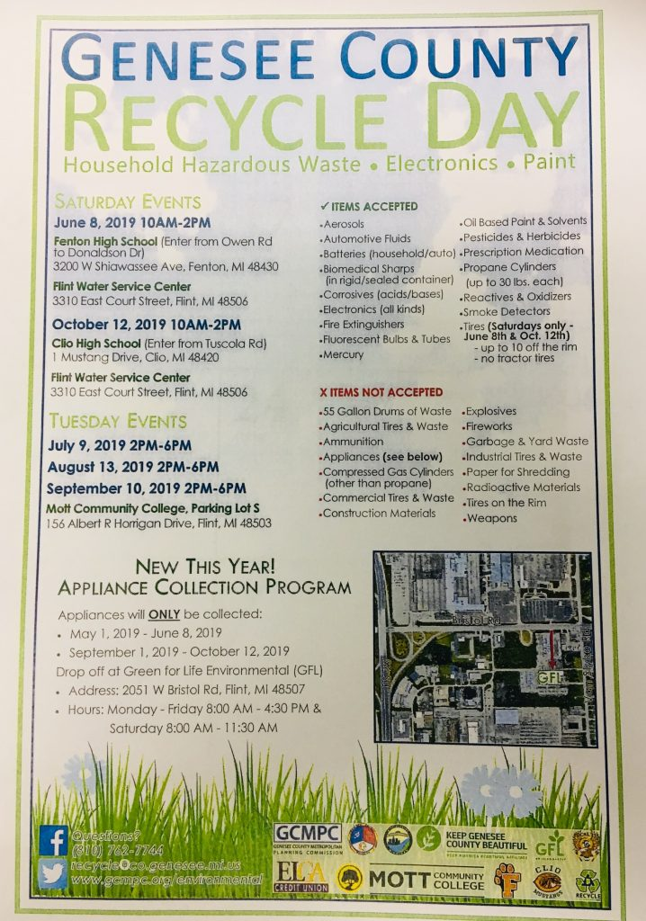 Genesee County Recycle Day Flier